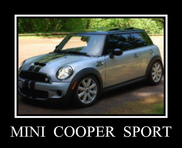 Mini Cooper Sport Print by Kathy Sampson