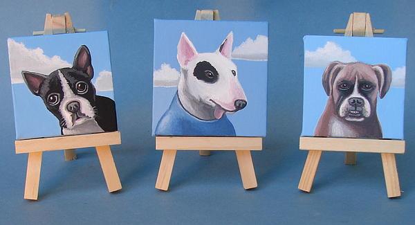 Mini Dog Portraits 2 Print by Stuart Swartz