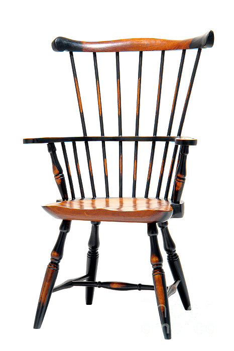 Miniature Windsor Armchair Print by Olivier Le Queinec