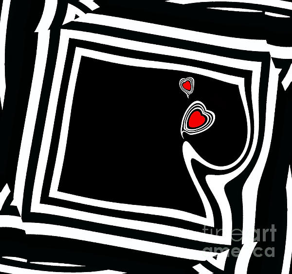 Drinka Mercep - Minimalist Black White Red Art No.95.