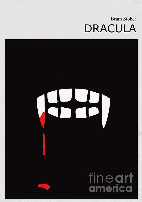 Minimalist Book Cover Bram Stoker Dracula Print by Budi Satria Kwan
