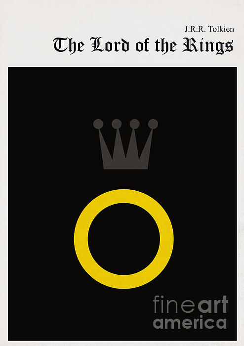 Minimalist Book Cover The Lord Of The Ring Print by Budi Satria Kwan