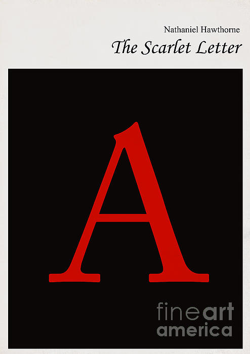 Minimalist Book Cover The Scarlet Letter Print by Budi Satria Kwan