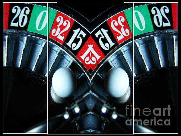 Mirrored Roulette Wheel Triptych Print by M and L Creations
