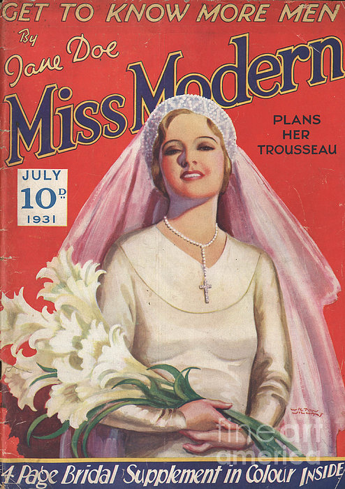 Miss Modern 1931 1930s Uk   Brides Print by The Advertising Archives