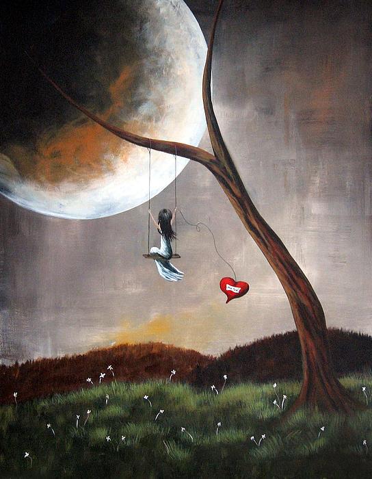 Shawna Erback - Original Surreal Artwork Girl On Swing