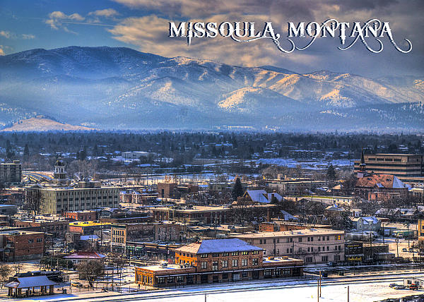 Missoula Montana Winter Landscape By Dariusz Janczewski
