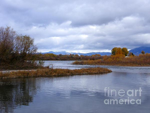 Missouri River Reflections Print by Kara Kincade