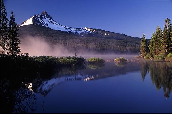 Mist Off Of Big Lake Print by Joe Klune