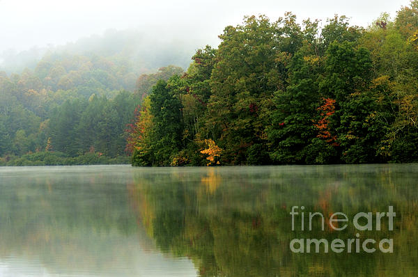 Mist On The  Lake Print by Thomas R Fletcher