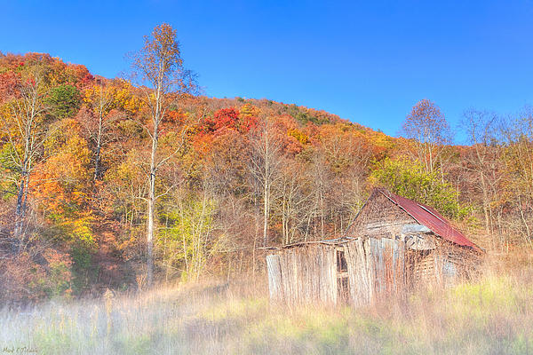 Misty Fall Morning In The Valley - North Georgia Print by Mark E Tisdale