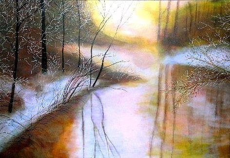 Marie-Line Vasseur - Misty icy golden creek