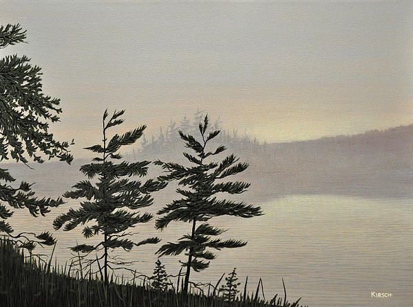Misty Lake Print by Kenneth M  Kirsch