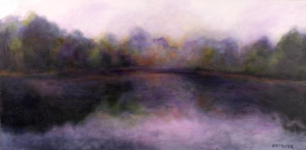 Misty Morning Print by Alison Caltrider