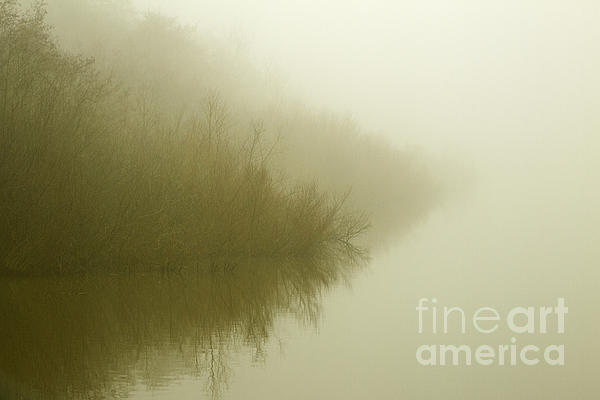Misty Morning Reflection. Print by Clare Bambers
