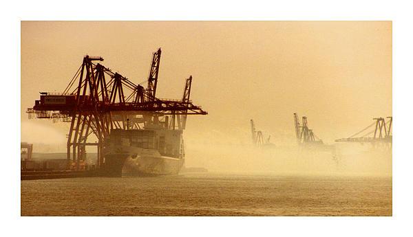 Misty Seattle Waterfront Print by Jack Pumphrey