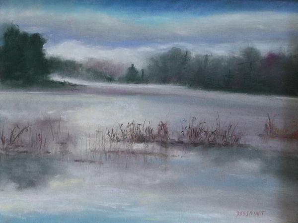Misty Waters Print by Linda Dessaint