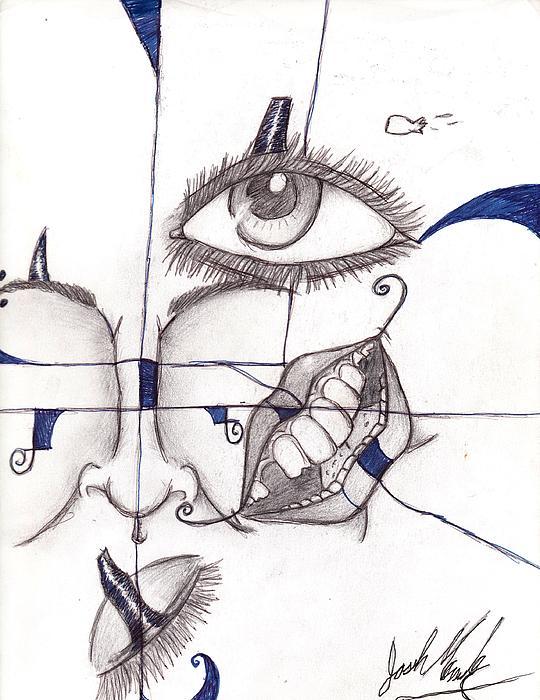 Mixed Face Print by Joshua Massenburg