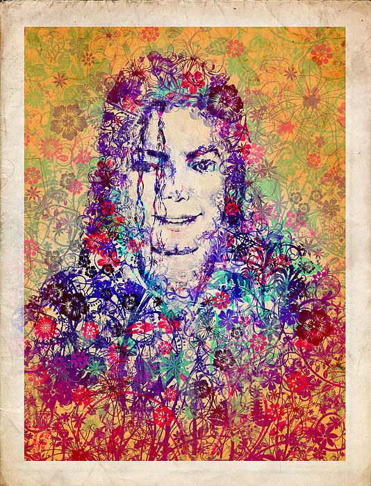 Mj Floral Version 3 Print by MB Art factory