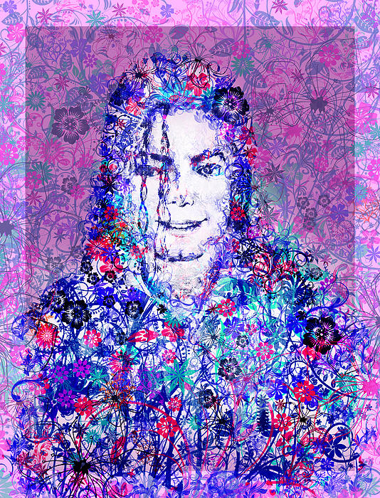 Mj Floral Version Print by MB Art factory