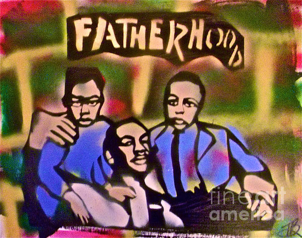 Mlk Fatherhood 2 Print by Tony B Conscious
