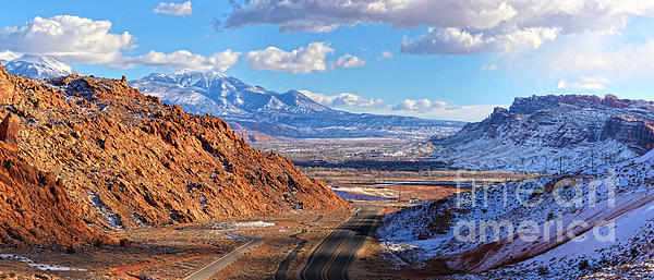 Moab Fault Medium Panorama Print by Adam Jewell
