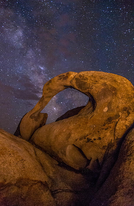 Mobius Arch And Milky Way Print by Cat Connor