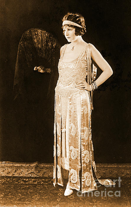 Model Norma Talmadge 1920 Print by Padre Art