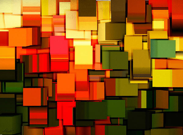 Modern Abstract I Print by Lourry Legarde