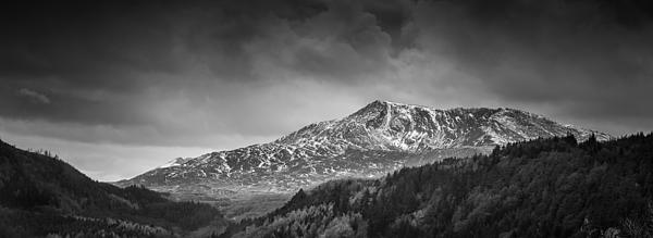 Christine Smart - Moel Siabod Black and White Panorama