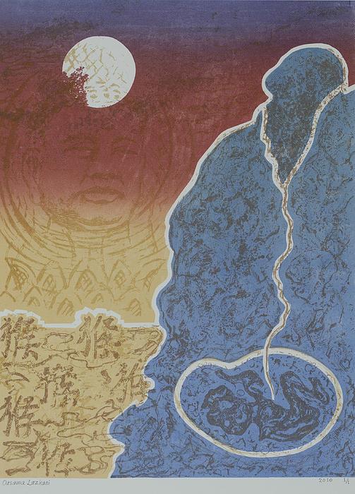 Moment Of Meditation Print by Ousama Lazkani