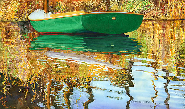 Moment Of Reflection Xi Print by Marguerite Chadwick-Juner