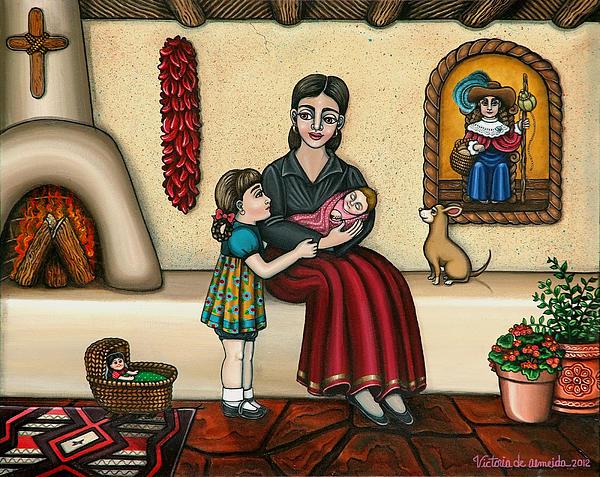 Momma Do You Love Me? Print by Victoria De Almeida
