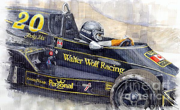 Monaco 1976 Wolf Wiliams Fw05 Jacki Ickx Print by Yuriy Shevchuk