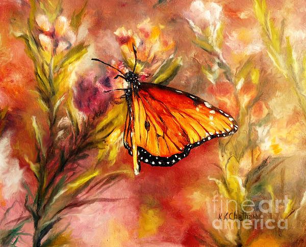 Monarch Beauty Print by Karen Kennedy Chatham