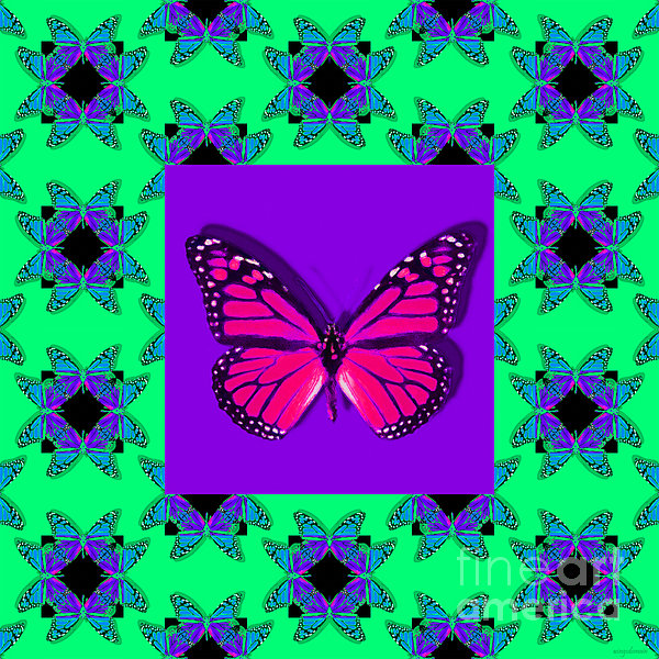 Monarch Butterfly Abstract Window 20130203p148 Print by Wingsdomain Art and Photography