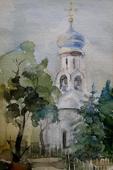 Monastery Print by Khromykh Natalia