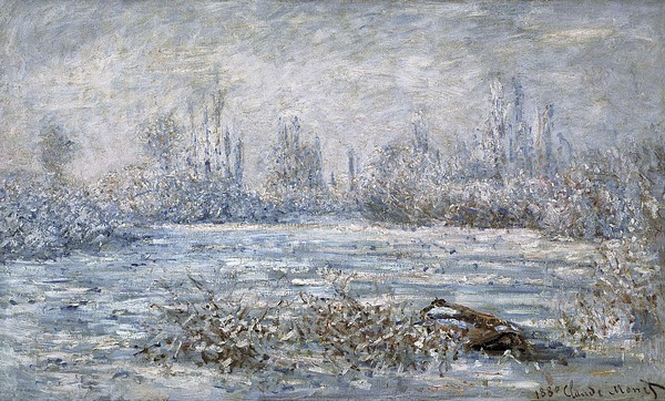 Monet, Claude 1840-1926. Frost Print by Everett