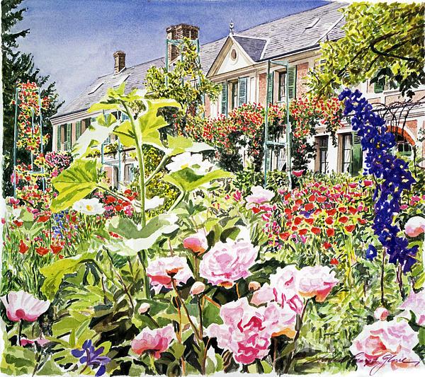 Monet's Garden Giverny Print by David Lloyd Glover