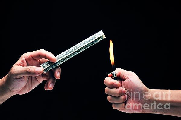 Money To Burn Print by William Voon