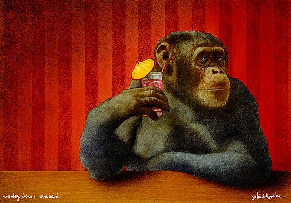 Monkey Bars...she Said... Print by Will Bullas