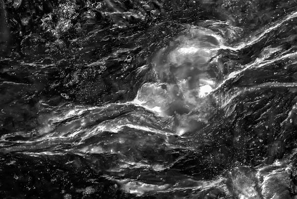 Monochrome Sea Print by  Onyonet  Photo Studios