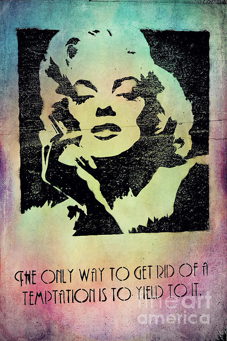 Monroe Quotes Wilde Print by Dirk Wuestenhagen
