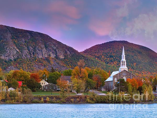 Mont-saint-hilaire Quebec On An Autumn Day Print by Laurent Lucuix