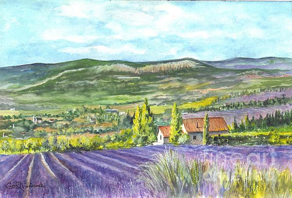 Montagne De Lure En Provence Print by Carol Wisniewski