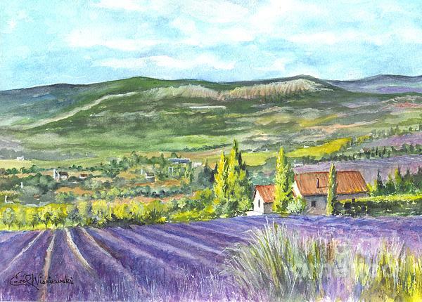 Montagne De Lure In Provence France Print by Carol Wisniewski