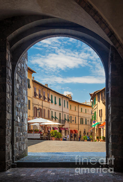 Montalcino Loggia Print by Inge Johnsson
