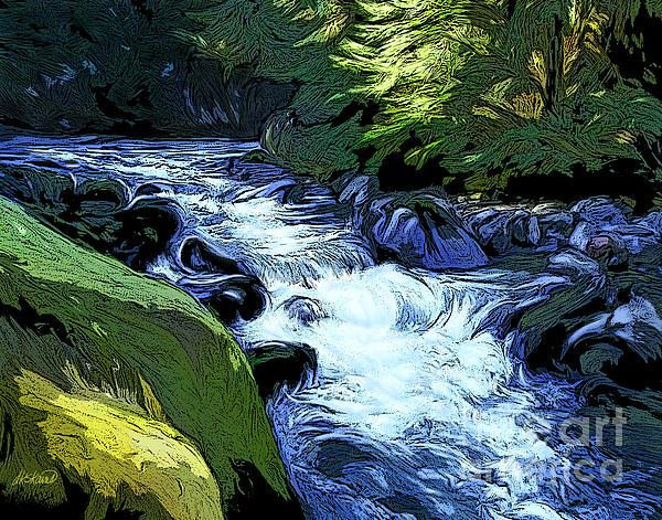 Montana Creek Print by Dorinda K Skains