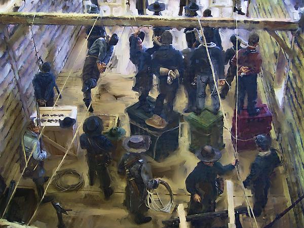 Montana Justice   January 14 1864 Print by Daniel Hagerman