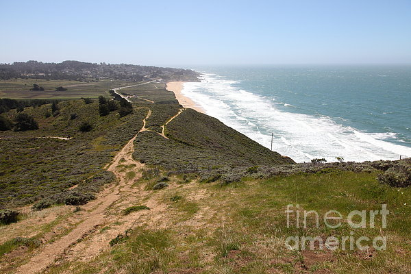 Montara State Beach Pacific Coast Highway California 5d22633 Print by Wingsdomain Art and Photography
